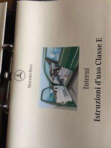 Uso Manutenzione,Istruzioni d'Uso Mercedes Classe E Anno 1997