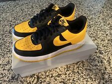Nike Air Force 1 AF1 Black & Yelllow Men's Shoes Size 8