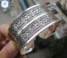 New Tibetan Tibet Silver Totem Bangle Cuff Bracelet--A1+Gift