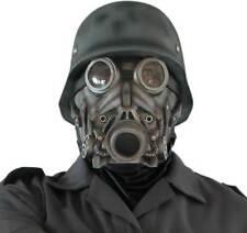 Deluxe overhead latex la seconde guerre mondiale Soldat allemand tv film masque à gaz & casque nouveau