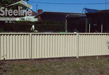 Colorbond Fence Panels 1.8m x 2.38m DIY Sawtooth Fencing Panel Kits **NEW**