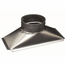 Deflecto RANGEHOOD FLUE ADAPTOR Rectangular to Round Aluminium- 290x130mm