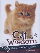 NEW Cat Wisdom Cards Deck Tanya Graham Toni Carmine Salerno