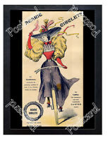 Historic Acaric Circlets, garters for cyclists, c.1895 Advertising Postcard