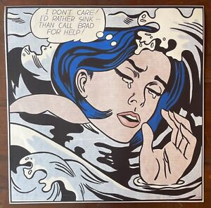 ROY LICHTENSTEIN - lithograph sign on original paper of 90's- Drowning Girl