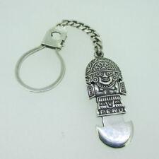 Sterling Silver Peru Tumi Medicine Man Keychain or Watch Fob