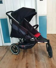Phil & Teds Explorer In line Pushchair Black red Birth-4 Yrs