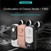 Fineblue F960 BT 4.1 Earbud Car Earphone with Retractable Cable Noise Canceling