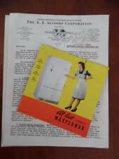 1941 Mayflower Refrigerator Brochure Dealer Letter Price List Lot Vintage ORIG.