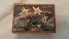 VINTAGE REUGE HANDPAINTED WOODEN MUSIC BOX WITH SWISS MOVEMENT