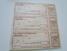 FRANCE COLIS POSTEAUX DE PARIS Maury n° 157  c 72€ FEUILLE COMPLETE**/dd196