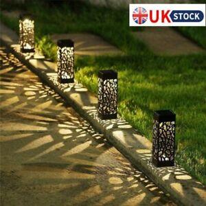 4/8PCS Solar Powered Garden Post Lights Waterproof LED Outdoor Patio Yard Lawn