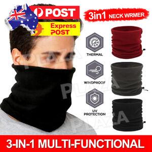 Men Women Winter Fleece Scarf Neck Tube Warmer Face Mask Balaclava Beanie Snood