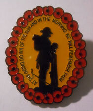 WWI World War One 100 Year Anniversary Pin 1914-1918 Soldier Poppy Badge #1 (snl