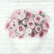 4x Tovaglioli di carta per Decoupage CRAFT Rose in Vaso Matrimonio