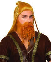 Deluxe Chieftain Viking Beard Wig Set Adult Cosplay Halloween Costume Accessory