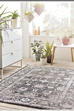 Origins Anatolia Vintage Turkish Style Flat Woven Traditional Classic Rug Grey