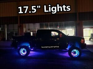 """17.5""""x4 IP68 Double Row CHASING Flowing BluetoothControlled LED Wheel Rim Lights"""