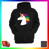 Rainbow Unicorn Hoodie Hoody Unisex Cool Cute Mane Hope Fantasy Fairy Pegasus