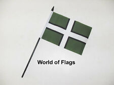 "DEVON SMALL HAND WAVING FLAG 6"" x 4"" County Cross Crafts Table Desk Top Display"