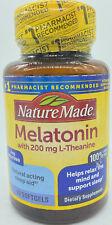 Nature Made Melatonin 3mg W/ 200mg L-Theanine 60 Softgels