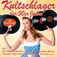 KULTSCHLAGER DER 50ER JAHRE  2 CD NEU