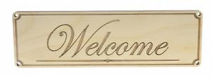 Welcome Sign for Door Plaque Signage Corporate School Business Retail
