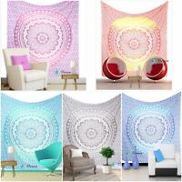 Tapestry Mandala Wall Indian Hanging Hippie Bohemian Ombre Decor Bedspread Throw