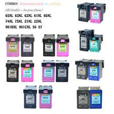 Ink Cartridge For HP 65XL 63XL 62XL 61XL 60XL 901XL 21XL 22XL 74XL 75XL lot