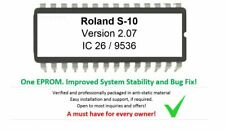 Roland S-10 Firmware Version 2.07 Eprom Upgrade Update for S10 80s Sampler