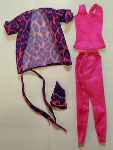 1985 Barbie and the Rockers Fashions Neon Clothes Tank Jacket Leggings Hair Tie