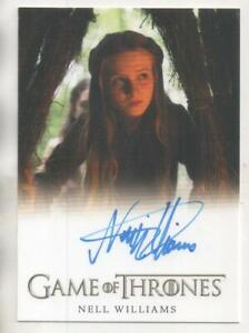 """Game of Thrones FULL BLEED Auto Trading Card Nell Williams """"Young Cersei"""""""