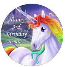 """Unicorn Horse Personalised Cake Topper 7.5"""" Edible Wafer Paper"""
