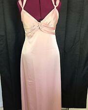BCBG MaxAzria Pale Pink Sleeveless V Neck Shirred Strappy Long Dress Size 6