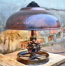 Rustic table lamp unique bedside lamp for bedroom handmade steampunk lamp