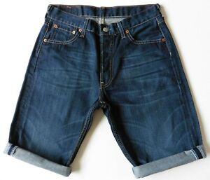 Men's Levis Denim Shorts W30 Blue Levi Strauss 501