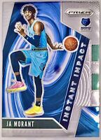 2019-20 Panini Ja Morant Base Prizm Rookie Card Instant Impact Memphis Grizzlies