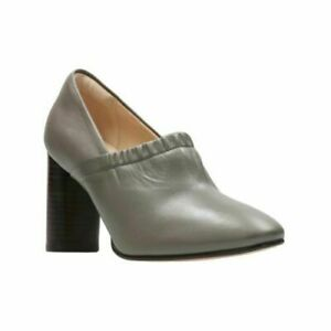 NEW CLARKS WOMEN / LADIES GRACE BAY GREY LEATHER SHOES