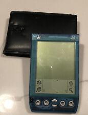 Handspring Visor Deluxe Translucent Blue Pda Palm Pilot W Case Handheld Computer