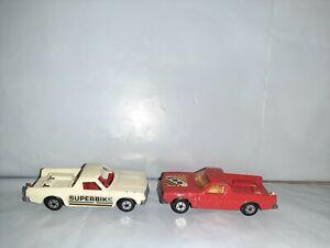 2 Vtg 1977 Matchbox Lesney Superfast #60 Holden Pick-Up Truck Variation England