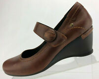 Pikolinos Mary Jane Brown Leather Casual Wedge Heels Comfort Womens 40 US 9.5/10