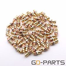 50PCS Gold Plated Brass Turrets Post Pins Lugs For Hifi Audio AMP Tag Boards DIY