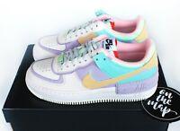 Nike Air Force 1 AF1 W Shadow Pastel Pale Ivory Pink Purple UK 3 4 5 6 7 8 9 US