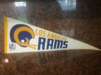 Vintage 1960's Los Angeles Rams NFL Football Sports Used  Pennant