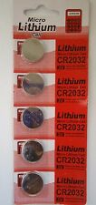 5 Pieces Original Genuine Micro Lithium Cell CR2032 3V, USA Seller