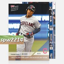 2018 Topps Now Francisco Lindor #694 6 Multi-HR Games from Leadoff Spot
