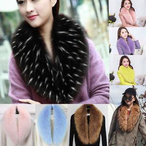 Winter Women Ladies Faux Fur Scarf Collar Shawl Stole Fluffy Warm Fashion