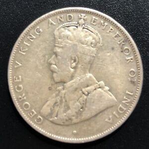 British Honduras 1911 50 Cent Silver Coin: George V