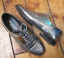 Russel and Bromley Silver Brogues Size 37 UK 4 Women's Metallic Lace Up VGC