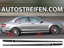 Mercedes Benz C63 AMG Seitenstreifen Seitenaufkleber Dekor Set